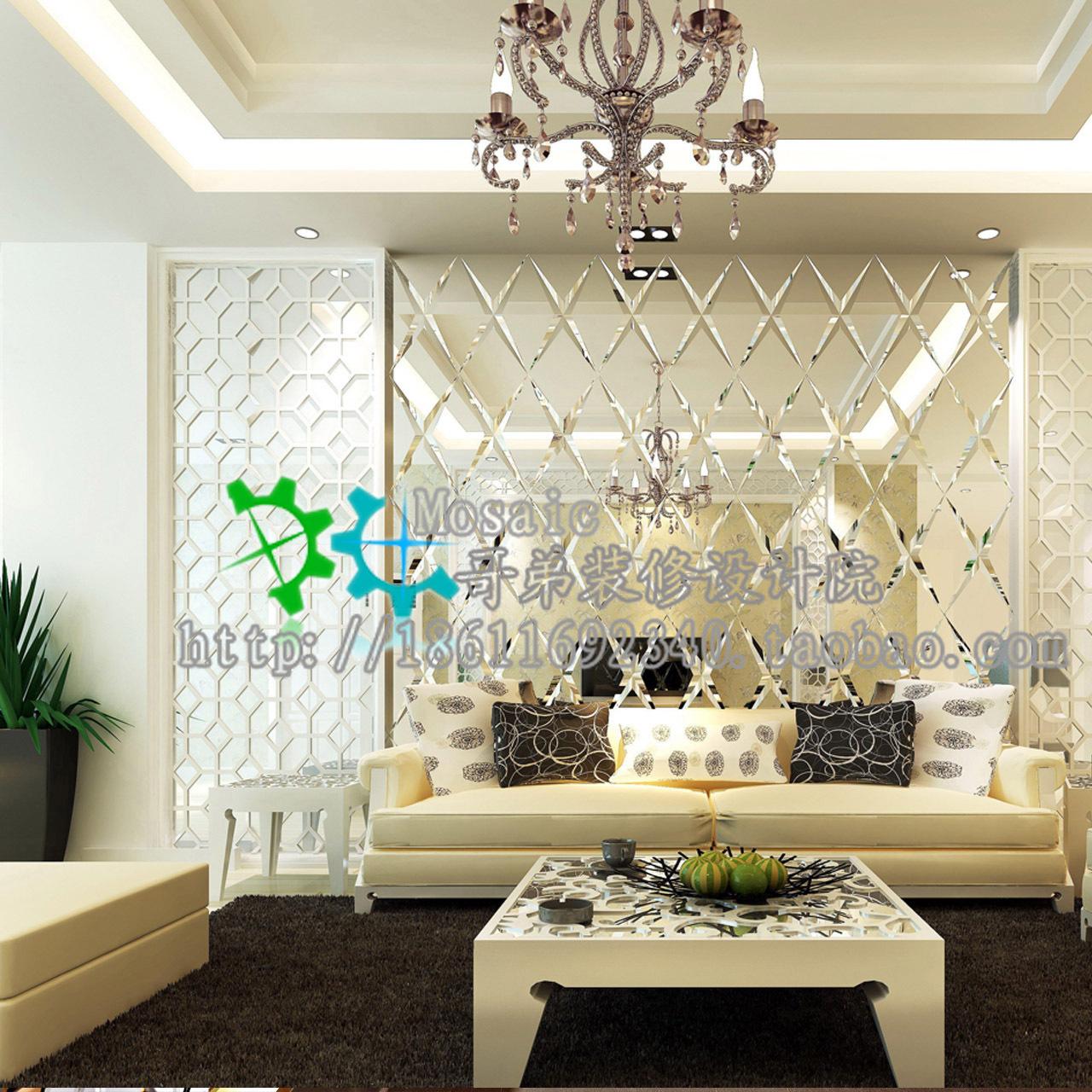 艺术玻璃玄关背景墙_专业定做 艺术玻璃 背景墙 菱形镜/拼镜/组合镜 银镜面
