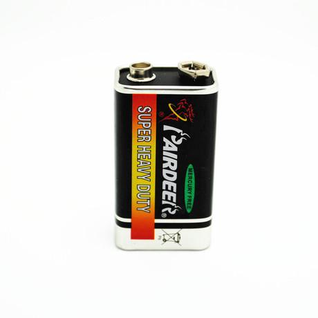 正品双鹿 9V电池 碳性电池 黑骑士英文版 铁壳