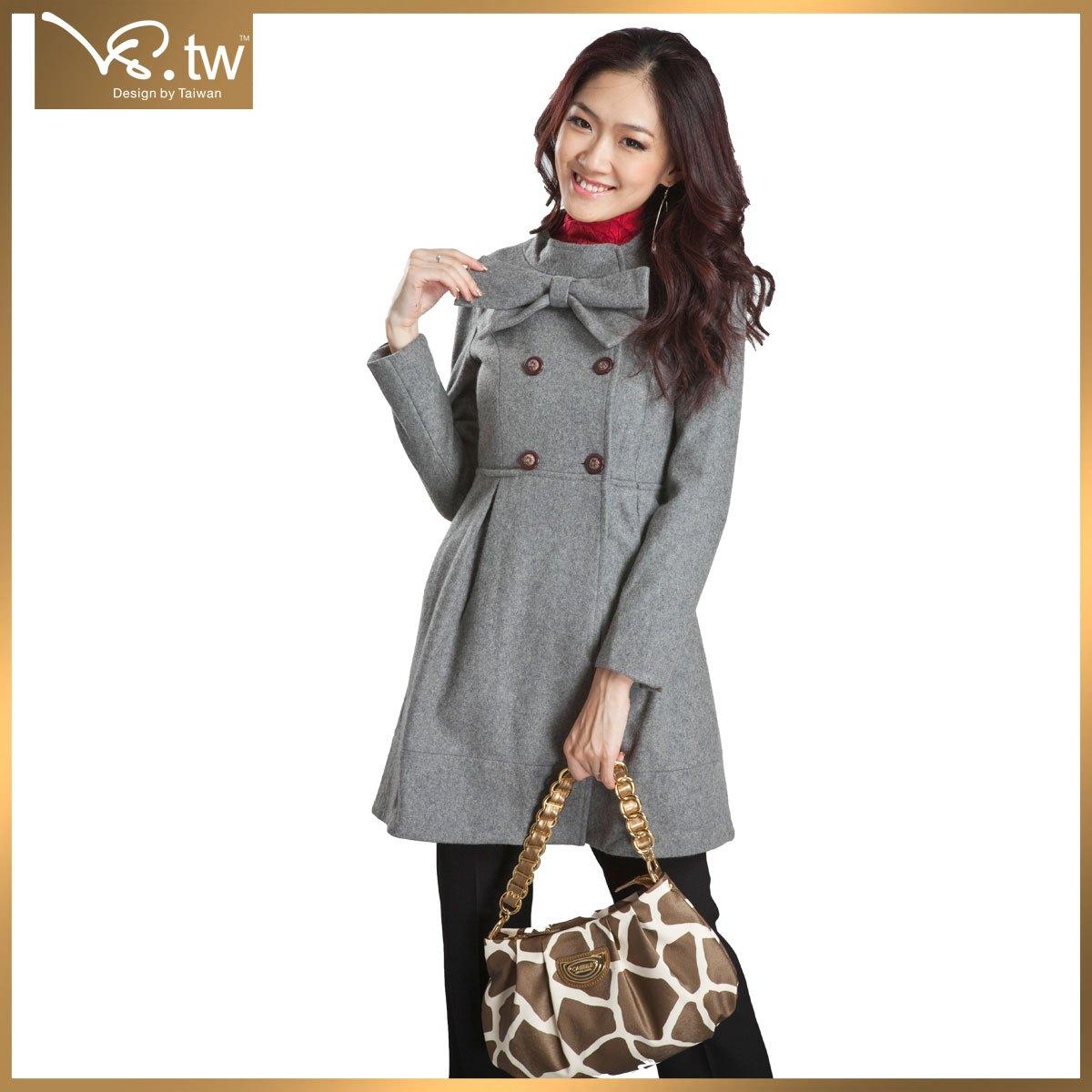 женское пальто VS.TW 3971 VS.tw2011 Длинная модель (80 см<длина изделия ≤ 100 см) VS.TW Длинный рукав Классический рукав