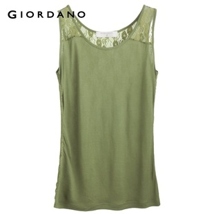 Summer of 2012 new stock recommendation Giordano t-shirts ladies ' small sexy lace vest 01322132