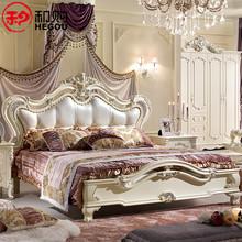 和购家具 欧式奢华软靠床 法式公主床 实木床 双人床 1.8米 FSW88图片