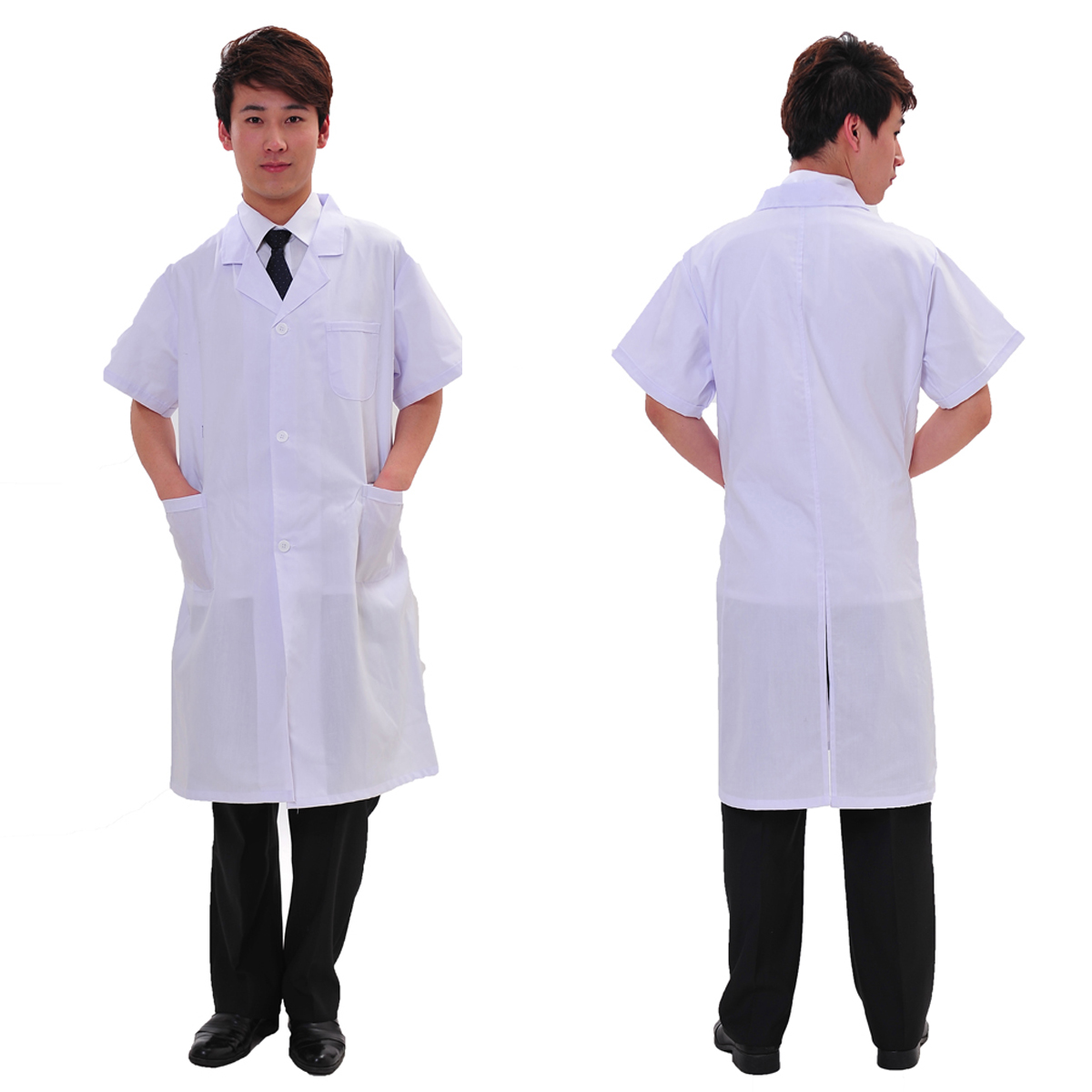 Sleeve long sleeved doctors white coat lab coats overalls men