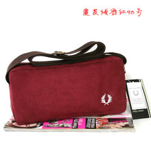 The great love of preppy wind Version bag, single shoulder bag Wine red handbag thickening faux suede (xb) no. 98