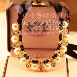 Korean children princess jewelry Korean pearl necklace girls tide treasure tide mom parenting jewelry sweater chain with jewelry