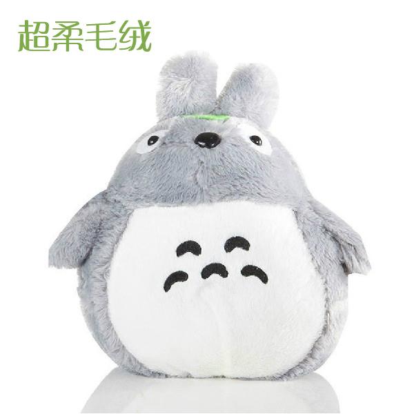 龙猫 公仔 大号 龙猫抱枕 毛绒玩具 女孩生日礼物 浅灰色呲牙龙猫