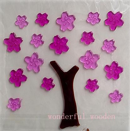 Наклейки на стекло Магниты на холодильник придерживаться плитка \ \ \ Windows желе пасты \ \ стеклянные стены стикеры (купить 4 получить 1 бесплатно) вишни Цветы Лист