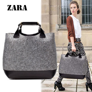 Zara leather handbag shopping bag for women