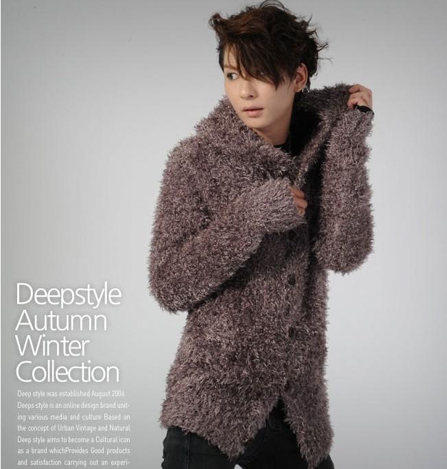 Свитер мужской Others 9123 2012 Кардиган Утеплённая модель Зимняя Комбинированное волокно - натуральная шерсть и синтетика 2012