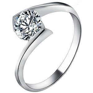 925纯银戒指 韩版瑞士女士款钻戒  结婚季可配情侣礼物 可创意刻字