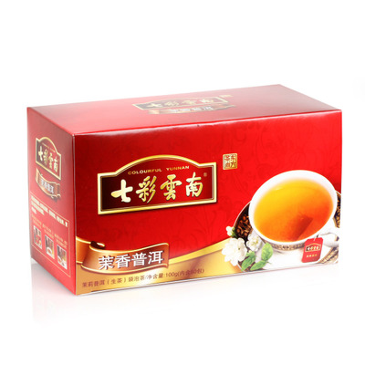 Colorful yunnan celebrate being auspicious Pu 'er tea tea bag Mo xiang pu 100 grams