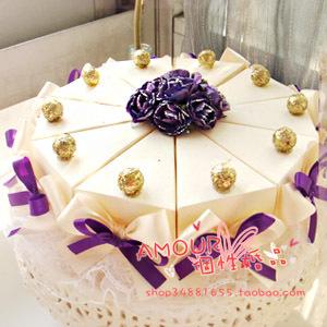 婚礼蛋糕喜糖盒 欧式喜糖盒 爱慕婚品