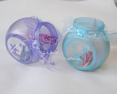 Lucky Wishing bottle bottle - colored double bottom can hold 1314 paper Lucky shipping