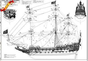 【小叮当杂货铺】实木帆船图纸模型海上公路中图纸主权sjd图片