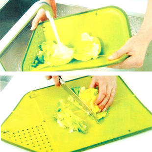 Simple-three golden crowns collapsible waterlogging plastic cutting board K0019