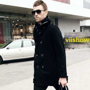 2011 spring clothing new men Western wind MaxMara warm windbreaker men's double breasted men's jacket coat