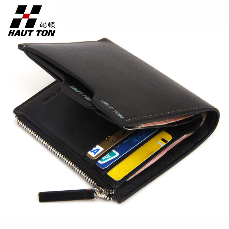 Hautton/Hao leather multi-functional men's wallets men's leather wallet purse authentic