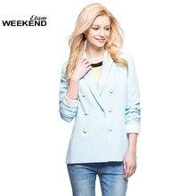 95折 艾格 Weekend 春季 双排扣垫肩西装外套14022101847图片