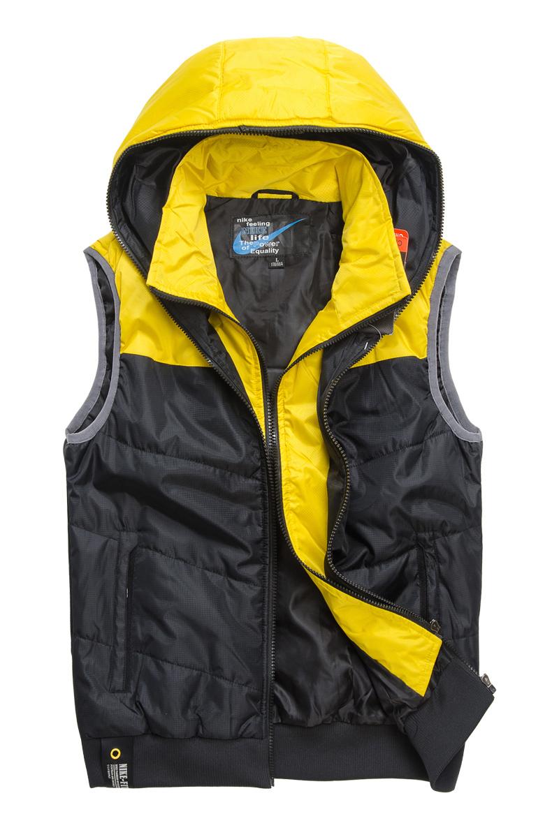 Хлопковый жилет Nike e668 2012 Для мужчин Полиэстер Молния Воротник с капюшоном Логотип бренда