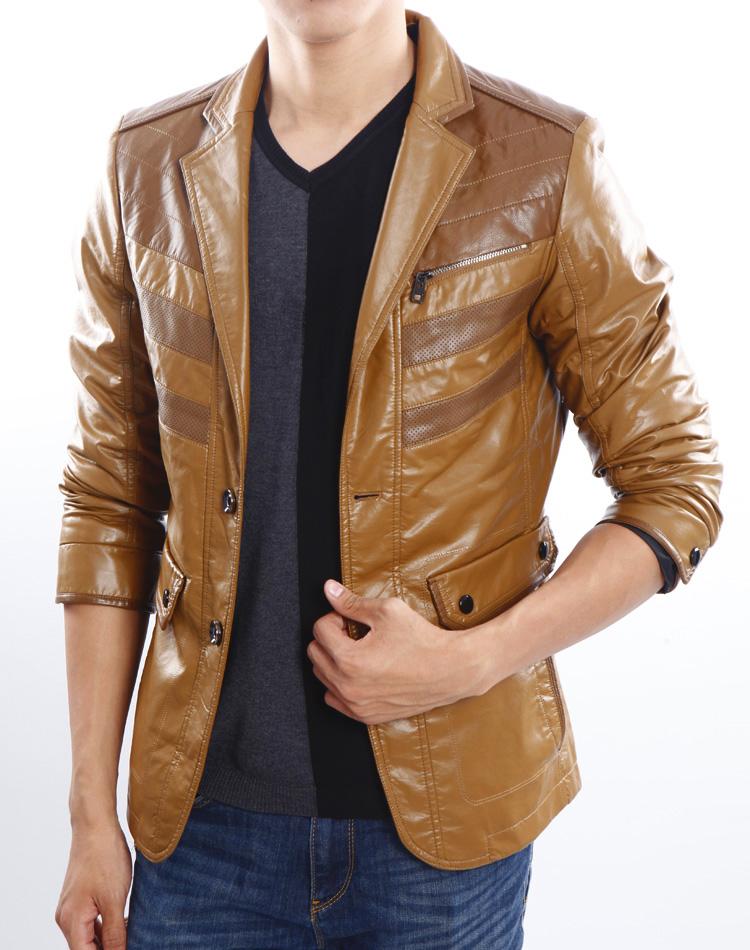 Одежда из кожи Lilanz 3281 2012 PU Имитация кожаной одежды Искусственная кожа (полиуретан) Костюмный воротник Модная одежда для отдыха