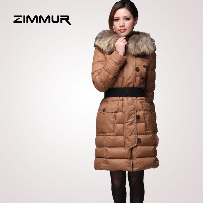 Женский пуховик ZIMMUR z11dgc065t3 ZimmurZ11DGC065T3 Городской стиль Облегающий покрой