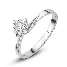 LANHO|蓝色多瑙河 见证 50分经典四爪18K白金钻石戒指|钻戒图片
