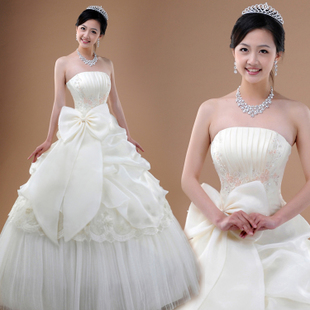Korean bow elegant sweet Princess line lace wedding new chest court beads wrapped thick and disorderly HS6211