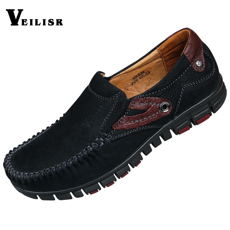 Демисезонные ботинки Veilisr m8836 Для отдыха Верхний слой из натуральной кожи Круглый носок Без шнуровки Весна и осень