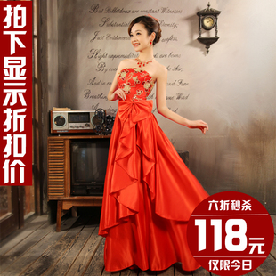 Korean bride wedding toast wedding dress bridesmaids of  dinner belly band 2012 latest elegant LF501