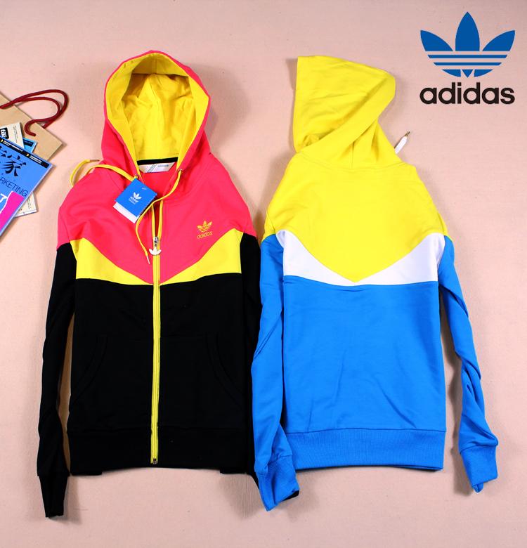 Спортивная толстовка Adidas 8021 Женские Кардиган 100 хлопок Молния Для спорта и отдыха Удерживающая тепло, Воздухопроницаемые % Осень 2012