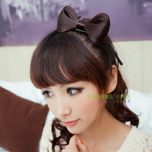 Non-mainstream black hair jiefa wig Butterfly ornaments for holiday letting Korean retro hair accessories 2012 new