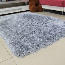 Jia farce carpet modern bedroom sitting room tea table by the bed long hair bright silk silver light grey carpet