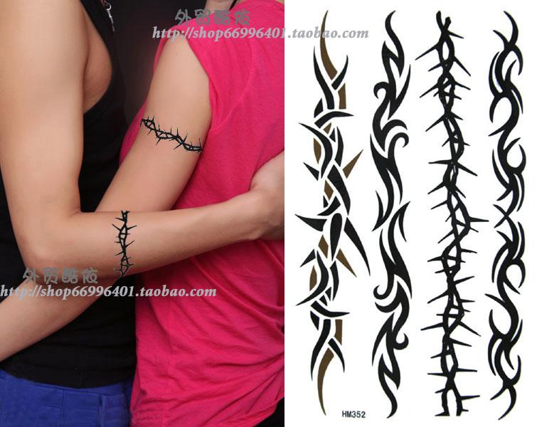防水防汗diy纹身贴纸 长条臂贴 腰贴 男女纹身贴 疤痕