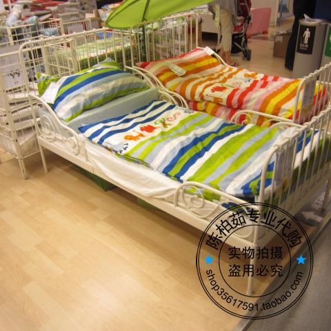 детская кроватка Шанхай профессиональный Покупка IKEA MINNEN выдвижная кровать для детей 80 * 200, регулируемый