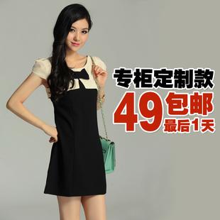 2012夏季<a href=http://temai.mei-lady.com/nvzhuang/ target=_blank class=infotextkey>新款女装</a>连衣裙 欧美气质<a href=/xuefang/ target=_blank class=infotextkey>雪纺</a>短袖修身