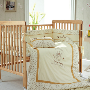 KUB fashion than baby bedding Kit soft and comfortable surrounding seven-piece baby bedding fitted cover bed mattress cover