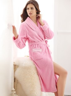 Explosive dream Basha thicken coral fleece Nightgown Lady home clothing 012011475