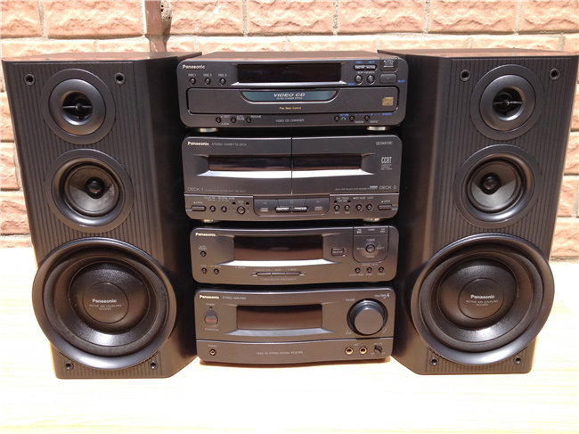 Original Second Hand Stereo Speaker System Panasonic SE 918X Do Computer Speakers Bookshelf
