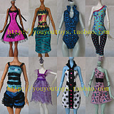 Over a hundred free shipping genuine Barbie bulk ㊣Barbie genuine monster monster high school high school clothing doll clothes