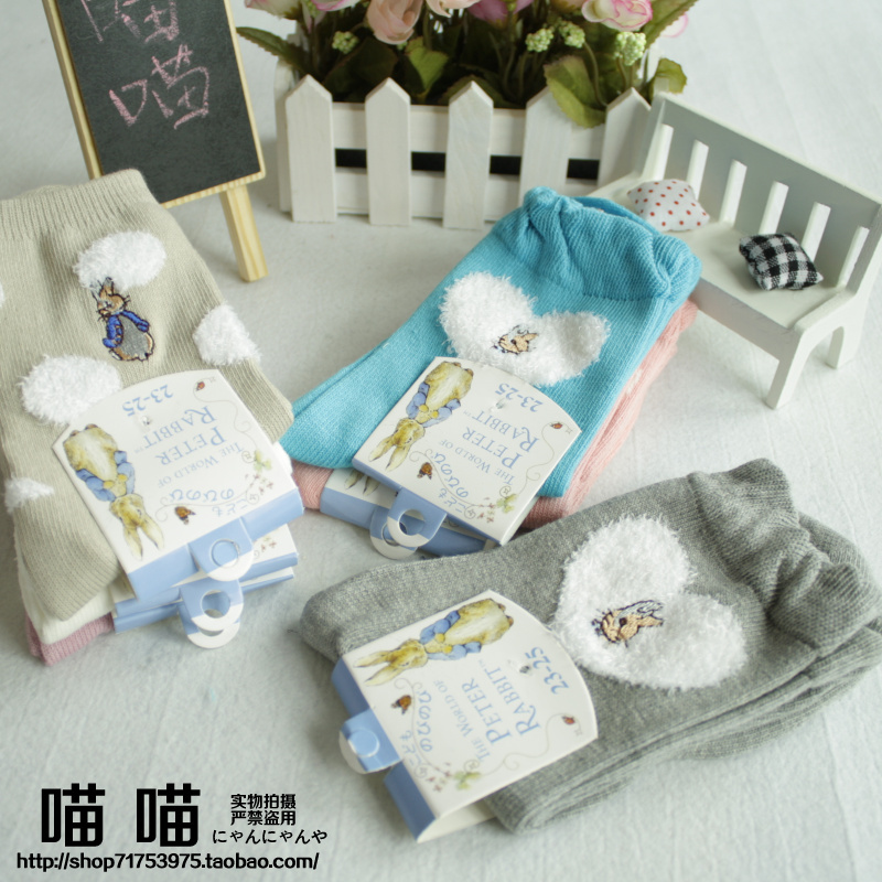 2pcs Peter Rabbit high quality women wool socks( tell me which ones )