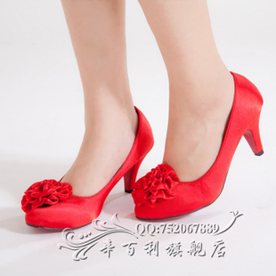 2011 new style wedding shoes, Bridal Shoes and wedding shoes red dress cheongsam shoes