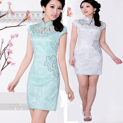 Платье Ципао Сяо Сяо ~ платье вверх вокруг городских красоты. Платье Shoppe подлинных 11 новых платье 3009