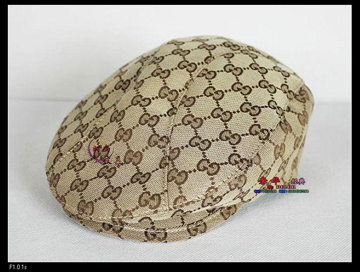 Головной убор Аутентичный Gucci/Gucci джентльмен шляпы, повседневные головные уборы шапки шляпы Hat Cap Фетровая шляпа (трильби) Натуральная кожа С надписями Мужские