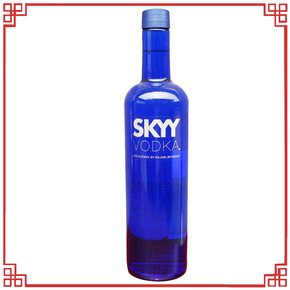 洋酒 正品特价 美国蓝天 深蓝伏特加 SKYY VODKA 750毫升