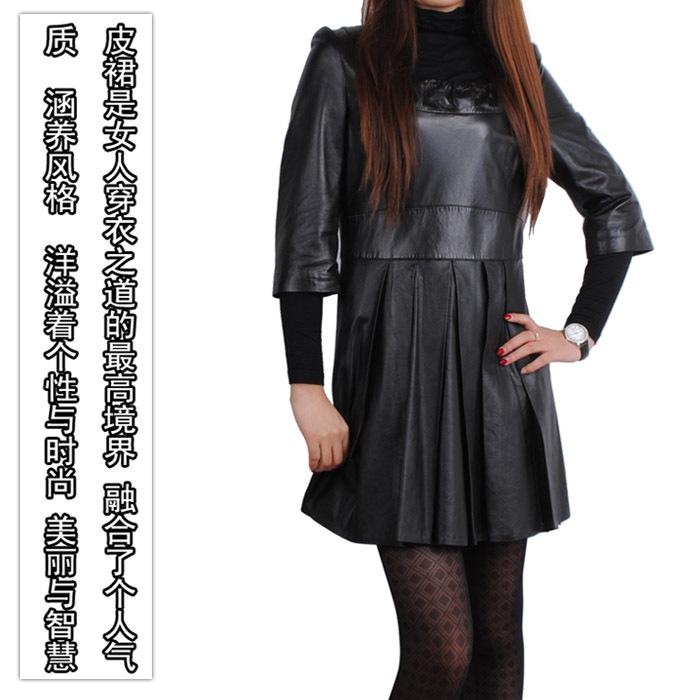 Женское платье Sweet leather dress 994 2012 -10 Осень 2012 Овечья кожа