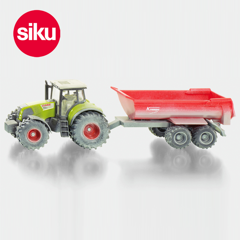 New Germany SIKU tractor dump trailer U3542 alloy car model toy