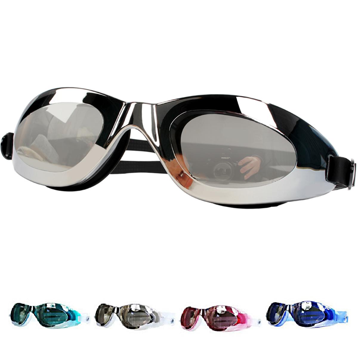 电镀/防雾/大框/防水/防紫外线正品男女平光防水高清游泳镜 包邮