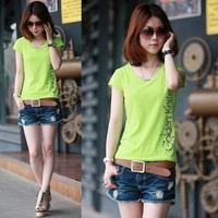 新款 女 2015夏装  韩版时尚女装 修身显瘦 体恤大码短袖 T恤女