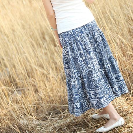 Fang Jin Fang 2013 года Расцветка Макси-юбка