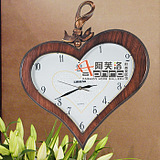 Lisheng Continental Korean countryside watch bell trumpet mute sided double-sided wall clock living room