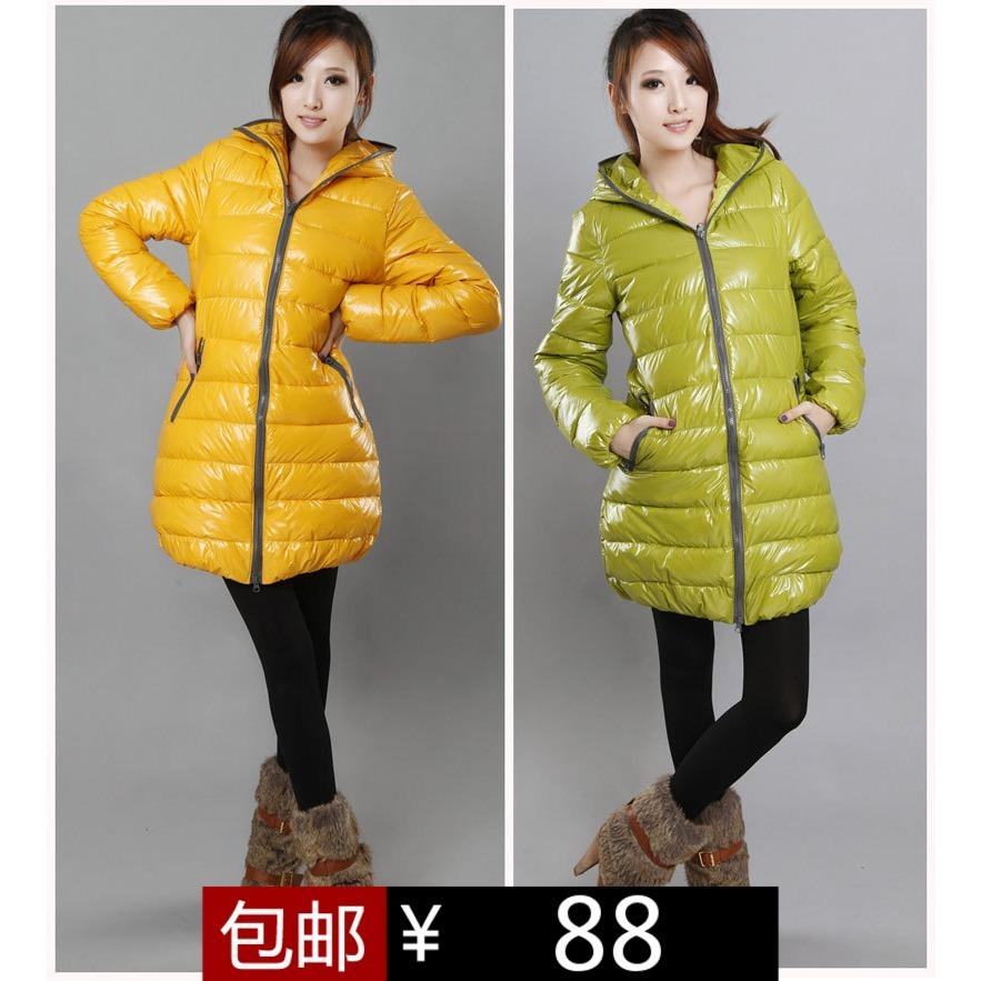 Женская утепленная куртка 2012 Облегающий покрой Длинный рукав Зима 2012